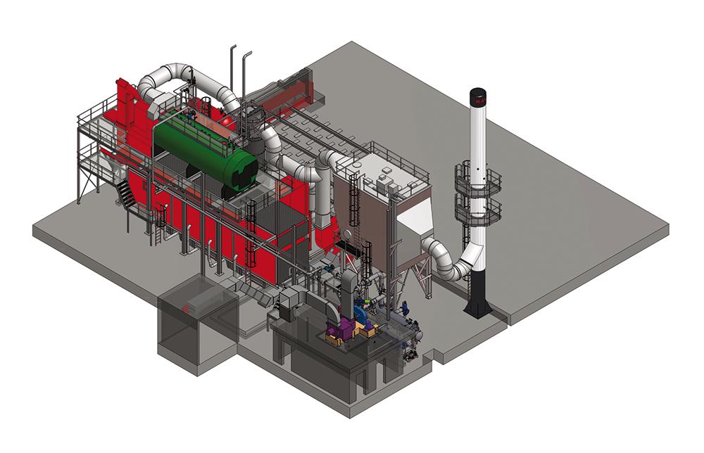Kara biomassa verbrandingsinstallatie
